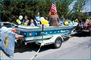 The Swim Team float at the BHCA Annual Parade/Picnic